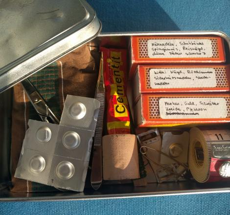 Survival-Kit für Kinder in der Box